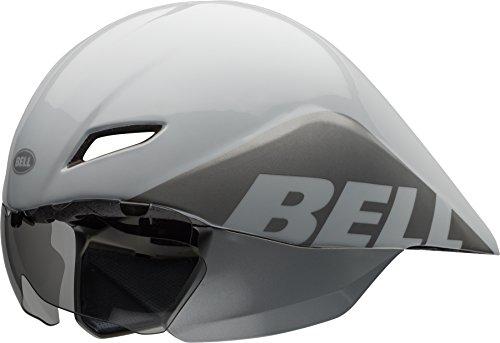 BELL Adultos Casco Javelin 16Team, Todo el año, Unisex, Color Blanco/Plateado, tamaño Medium