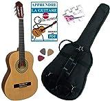 Pack Guitare Classique 3/4 (8-13ans) Pour Enfant Avec 3 Accessoires (nature)