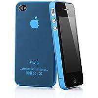 """QUADOCTA iPhone 4 / 4s Ultra Slim Case - Schutzhülle - """"Tenuis"""" in Blau - Ultra dünne iPhone Hülle - Leicht transparentes Case"""