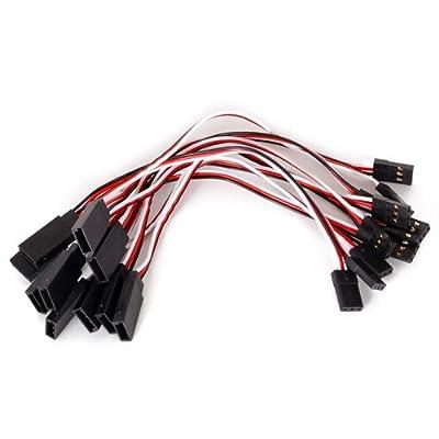 Wadoy 10x 165-172mm Servo Verlangerungskabel Drähtes Kabel von MagiDeal