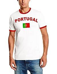 EM 2016 PORTUGAL T-SHIRT mit Deinem NAMEN + NUMMER ! PORTUGESE Fußball Trikot Ringer weiß S M L XL XXL