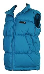 Adidas YB J Vest Kinder Westen Winterwesten Ärmellose Jacken Winterjacken Mädchen Jungen warme mit Reflektor Gilet (Blau, 176)