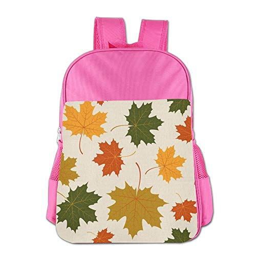4208543924f7 Autumn Maple Leaves Children School Backpack Carry Bag for Kids Boy Girl