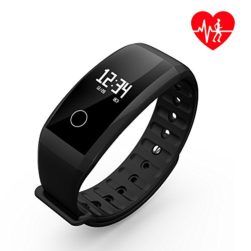 Fitness Tracker, SHAOLIN Fitness Armbanduhr Wasserdicht Fitness Tracker mit Herzfrequenz / Schlafmonitor / Kalorienz?hler / Multi- Sport Aktivit?tstracker - Smart Fitness Armband Android IOS (Schwarz)