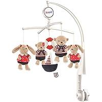 Fehn Musik Mobile - Spieluhr-Mobile für Babys von 0-5 Monaten/Zum Aufziehen und Montieren am Kinderbett