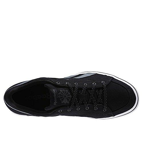 Reebok Lc Court Vulc Low, Chaussures de Sport Homme Noir / Gris / Blanc (Noir / alliage / Blanc)