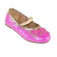 The Sparkle Club Infant Girls hot Pink Glitter Party Shoes , Pink, 5 UK Child