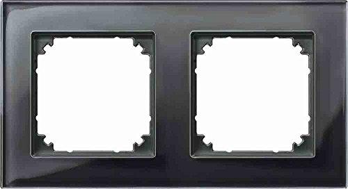 Preisvergleich Produktbild Merten 489203 M-PLAN-Echtglasrahmen 2f. onyxschwarz