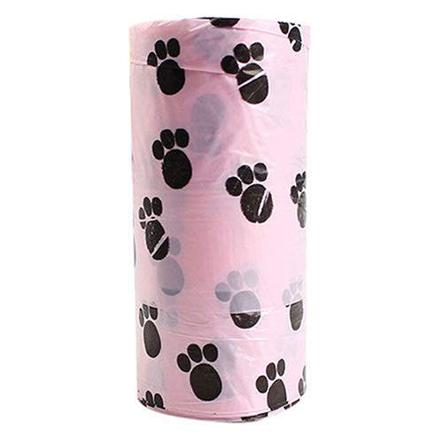 SEGRJ SegRJ15pcs/1 Rollo de Bolsa de Basura degradable para Perro, con impresión de Garras y dispensador de Limpieza útil