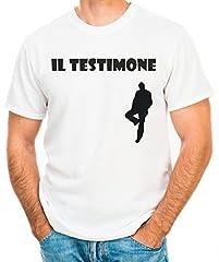 Idea Regalo - T-Shirt Addio al Celibato Il testimone - Maglia Uomo
