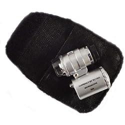 V directo 3 LED Mini 60X joyería lupa iluminada lupa del microscopio