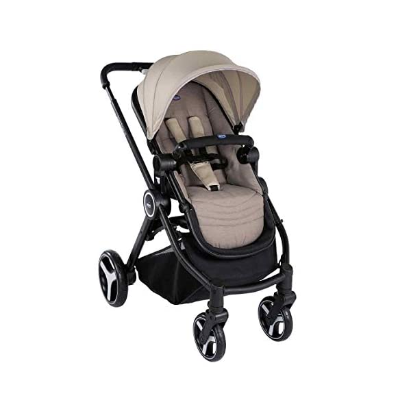 Trio Best Friend Beige 2019 Chicco A stylish and matching 3-in-1 set that is lightweight, versatile and practical Set includes Stroller Pushchair, Carrycot and Carseat Suitable for use from Birth to approx 3 years (Carrycot up to 6m / Carseat up to 13kg) 2