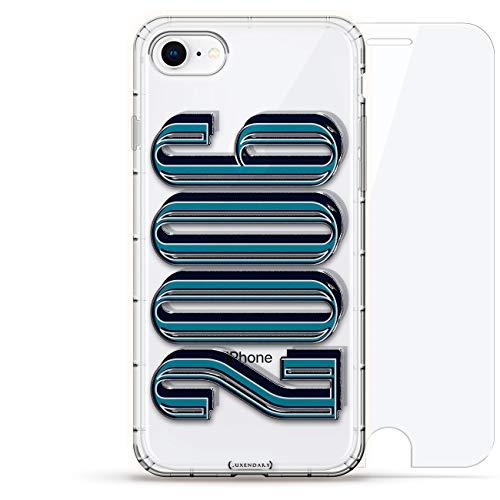 Luxendary Air Series 360 Schutzhülle für iPhone 8/7 (englischsprachig), 3D-Druck-Design, Luftkissen und gehärtetes Glas