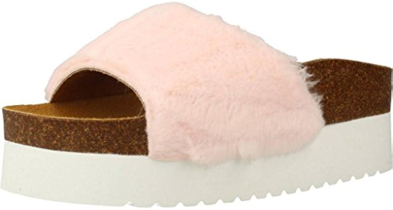 MUYII Sandalias De Boca De Pescado De Las Mujeres Verano Nueva Sexy Casual Con Tacones Gruesos Coreanos Zapatos De Malla,Winered-35 35|Winered