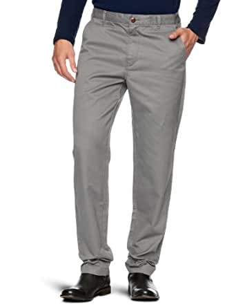 Brooks Brothers University Slim Fit Tapered Men's Trousers Grey W34IN