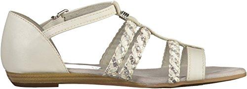 Tamaris Damen Sandale Weiß(Weiß/Silber)