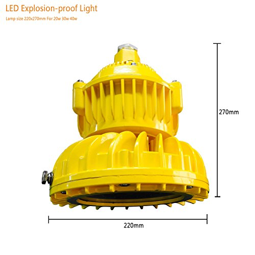 30w 3300lm led explosion-proof light high bay explosion proof led light with Exdemb II CT6 and Anti-corrosion rating WF2, Luminous Flux >110Lm/w IP66 Waterproof ATEX LED Gas station light (30) -