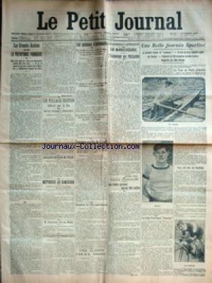 PETIT JOURNAL (LE) [No 250] du 07/09/1909 - LES GRANDES ASSISES DE LA PREVOYANCE FRANCAISE - UN VILLAGE BRETON DETRUIT PAR LE FEU - LES ACCIDENTS D'AUTO - JOURNEE SPORTIVE - LE TOUR DE PARIS PEDESTRE GAGNE PAR SNOUCK - 100 KM DERREIRE TANDEMS ET LEON GEORGET - MME BINDER - RAMEUSE - ALERTE A BORD DE LA DEMOCRATIE - M. LEGITIMUS MIS EN LIBERTE - SERGENTS DE VILLE ANARCHISTES - MUTINERIE AU CAMEROUN - ANGLAISE DISPARUE EN SUISSE.