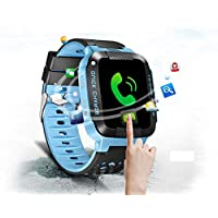 TrailO iSecureRely - Kids GPS Tracker SOS Smart Touch Screen Watch | Call Function, Remote Monitoring | 2G SIM Compatible | Kids Safety & Security (Blue Color)