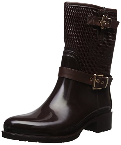Alexis Leroy Quilted Adjustable-Strap Warm-Keeping Short Shaft Wellies Women