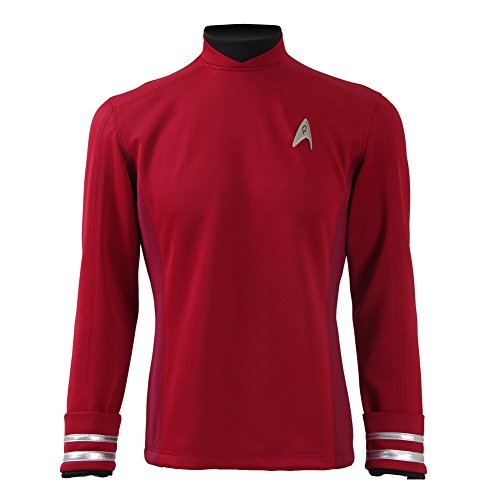 CosDaddy ® Star Trek Beyond Scott Rot Hemd Uniform Cosplay Kostüm US Size (S)