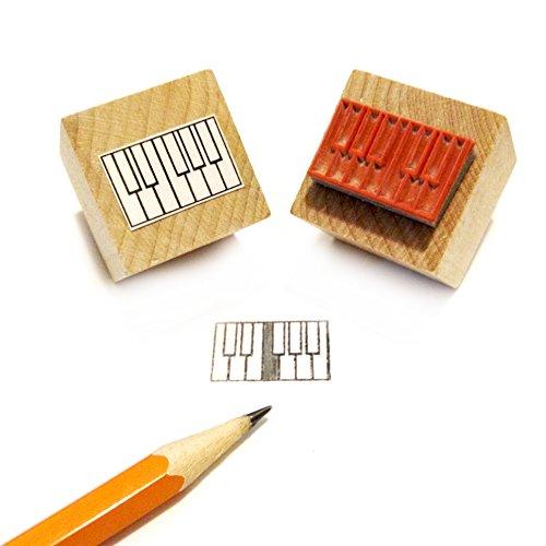 Mini Piano / Klavier diagam Gummi Stempel