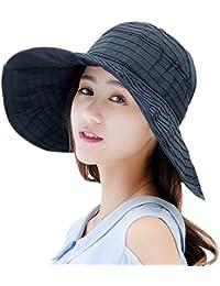 9a36d8c396816 Sombrero Casual para Mujer Sombrero para Sombrero Protección El De Bastante  Sol Verano Plegable Sombrero para