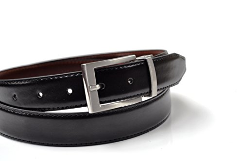 Ashford Ridge 30mm reversible del cinturón de cuero recubierto en Negro/marrón (110cm - 120cm)