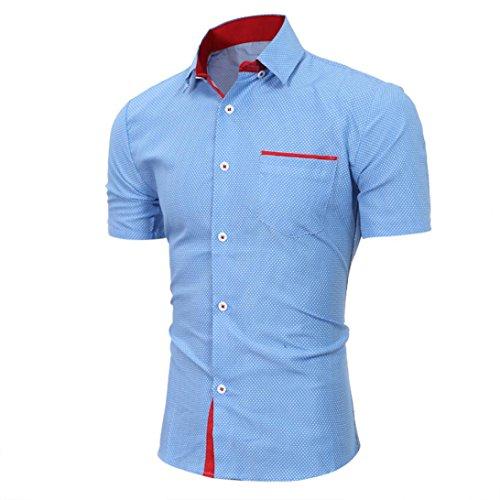 Kanpola Herren Poloshirt Einfarbig Shirt Sweatshirt Unterhemden Muskelshirt Tee Top Blouse