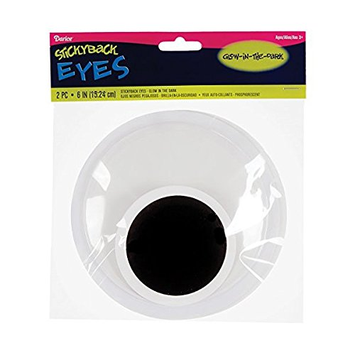 Bulk Buy: Darice DIY Crafts Wackelaugen Glow in the Dark 15,2 cm (3er Pack) eye-6gl