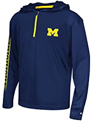 """Michigan Wolverines Youth NCAA """"Sleet"""" 1/4 Zip Pullover Hooded WindShirt Chemise"""