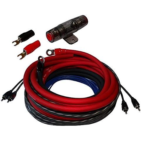 AERZETIX: Juego de cables cableado para montaje de amplificador auto alimentacion potencia 20mm2 su RCA fusible
