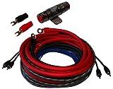 Aerzetix - Set di cavi cablaggio 20mm² per montaggio amplificatore auto alimentazione e suono RCA AGU fusibile 60A e portafusibile .