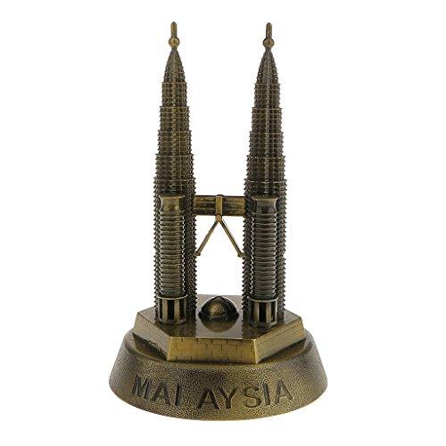 16cm-figurine-tours-petronas-malaisie-statue-bronze-modele-ornement-maison-decor-souvenir-collection
