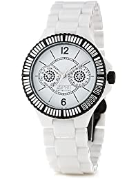Esprit Collection Damen-Armbanduhr Iris Tetra Analog Quarz Keramik EL101332F08