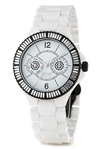 Esprit Collection - EL101332F08 - Montre Femme - Quartz - Analogique - Bracelet céramique Blanc