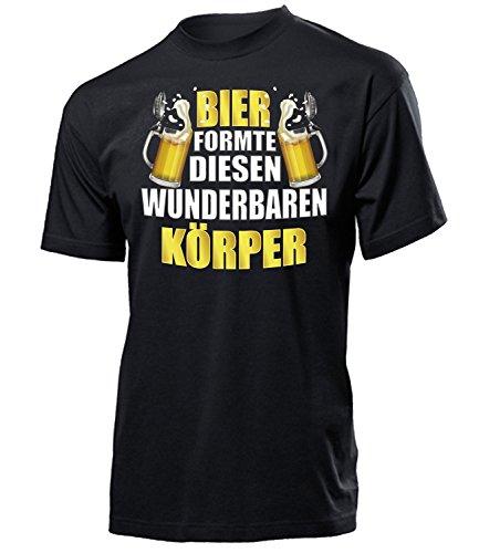 OKTOBERFEST - Funshirt - BIER FORMTE DIESEN WUNDERBAREN KÖRPER 4862(H-SW) Gr. M