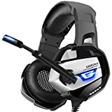 Picture Of ONIKUMA Gaming Headset for PS4, Xbox One, PC, Nintendo Switch, Stereo Surround Gaming Headphones 3rd Generation Ergonomic Design, Soft Memory Earmuffs, Noise-Cancelling, Microphone & USB LED Light