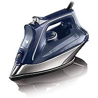 Rowenta DW8215D1 ProMaster Plancha de Ropa con Golpe 200 Vapor Continuo de 40 g/min, Suela Microsteam 400 HD Profile, Modo Eco y Sistema antical Integrado, 2800 W, 0.3 litros, Acero Inoxidable, Azul