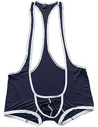 ranrann Sexy Homme Body String sous-vêtements Mankini Jockstrap Thong  Bodysuit Shorts Respirant Slip Boxer c99814444e4