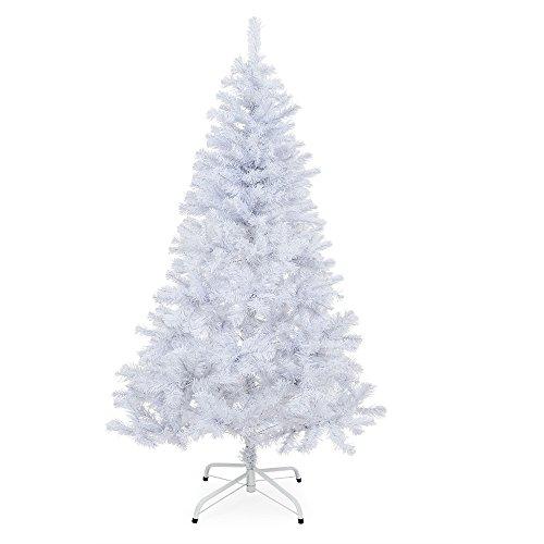 Winter licher Albero di Natale artificiale 150cm–180cm Bianco con supporto