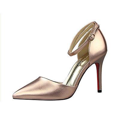 Moda Donna Sandali Sexy donna tacchi tacchi estate pu Casual Stiletto Heel altri Nero / Bianco / argento / Oro / Champagne altri Black