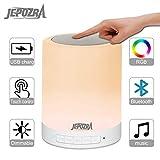 Lampe Chevet - Lampe Connectée - lampe tactile - Veilleuse Bluetooth multifonction, changement de couleur et lumière blanche, carte mémoire TF et connexion AUX.