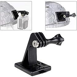 Supports d'excavatrice de caméra d'accessoires tactiques de casque pour le support de base de casque de GoPro ou de casque de NVG (noir)