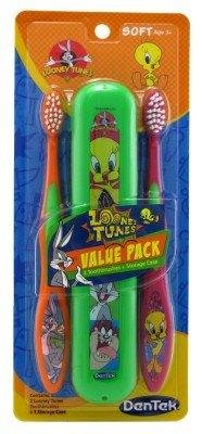 dentek-looney-tunes-toothbrush-with-toothbrush-holder-by-dentek