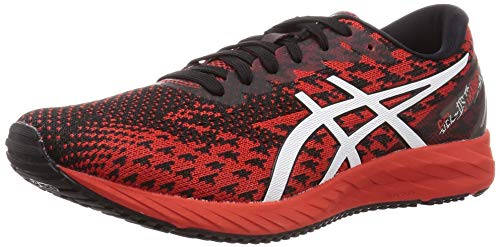 ASICS Mens Gel-DS Trainer 25 Running Shoe, Fiery Red/White