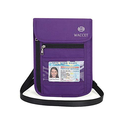 WACCET Portadocumentos Cuello Protección RFID Portadocumentos