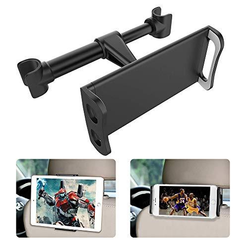 Tablet Halterung Auto, FAPPEN Universal Tablet Halterung : KFZ-Kopfstützen Halterung für Pad Air Mini, Pad 2018 Pro 9.7, 10.5, Tab, Smartphone und Tablet mit 4.4~11 Zoll - Schwarz (Schwarz)