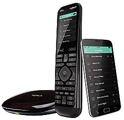 Logitech Harmony Elite Fernbedienung für TV- und Multimedia-Steuerung, Hub und App, Schwarz