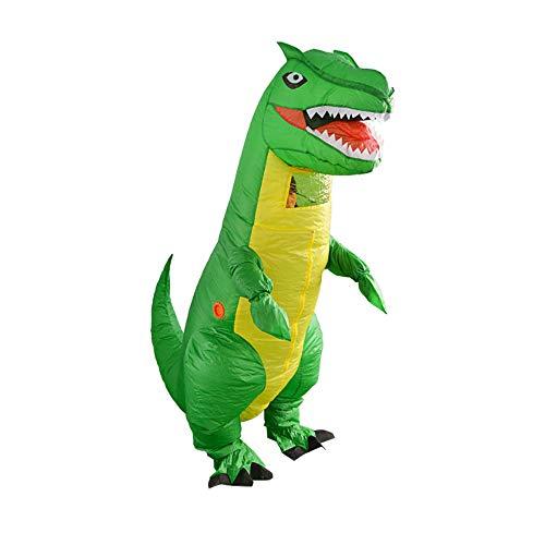 Rex Aufblasbar Tyrannosaurus Kostüm - CLCYL Dinosaurier Aufblasbare Kostüm Kinder Aufblasbare Dinosaurier Kostüm T Rex Kinder Halloween Cosplay Tyrannosaurus Rex Tyrannosaurus Eltern-Kind Bühne Kleidung Kostüme